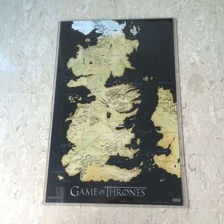 Official HBO Game Of Thrones Westeros Map