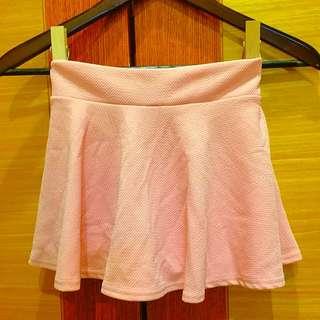 🌀NET粉色彈性超短褲裙