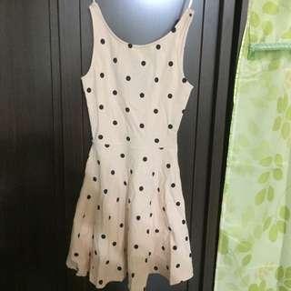 H&M點點洋裝(32)號粉色