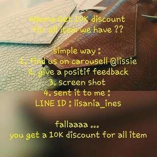Discount 10K All Item