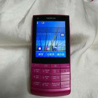NOKIA X3-02按鍵觸控手機(桃紅色)