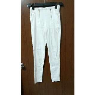 (降)白色長褲 白褲