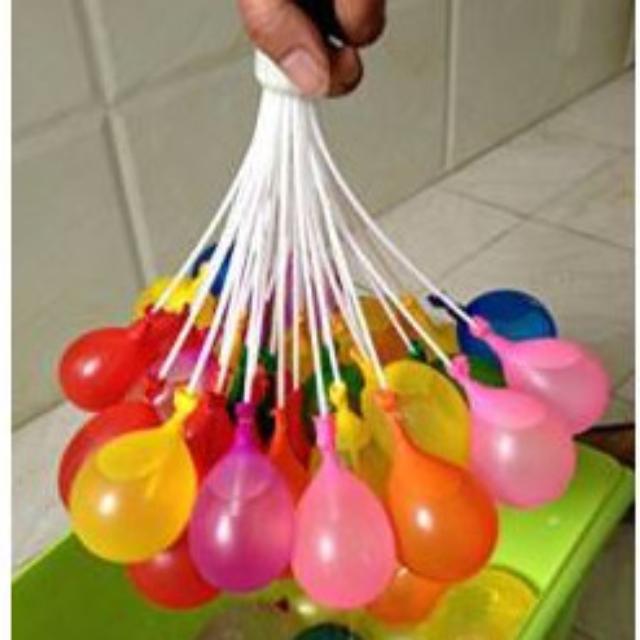 總共222顆水球!!!! T106夏日水球大戰超夯水球束+配件包套組