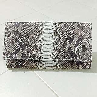 Authentic Python Skin Clutch Bag