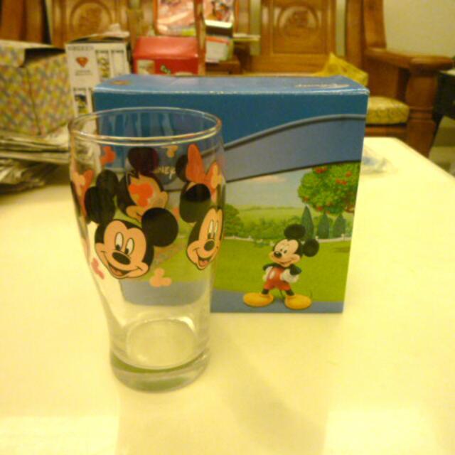 迪士尼米奇米妮透明玻璃杯