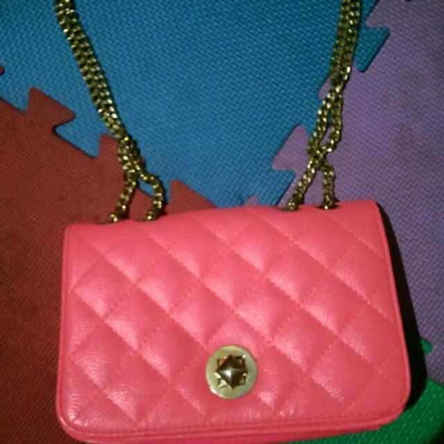 粉紅金鍊包