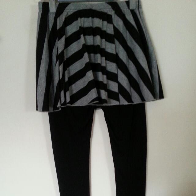 東京著衣 條紋 內搭褲 裙