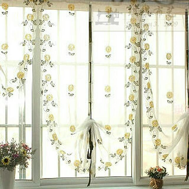 🌻 Daisy rustic anode-screening quality window balloon curtain embroidery the finished kitchen curtain 🌻 Sidzcolleczion 🌻 Pre order 🌻
