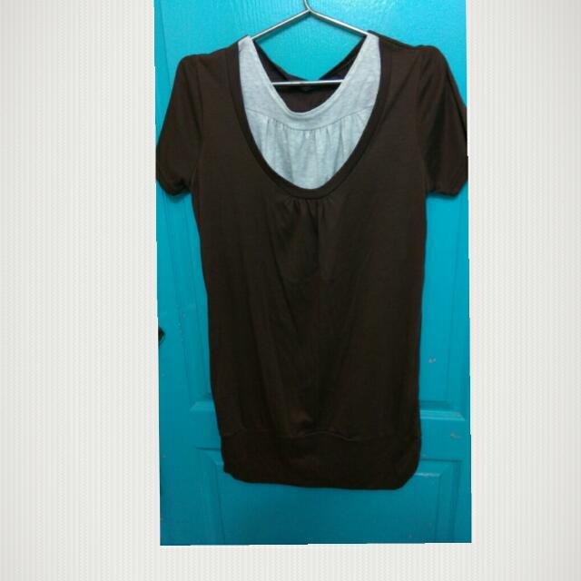 C011咖啡色哺乳衣
