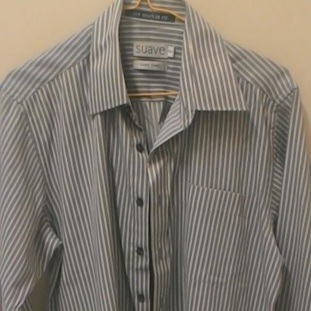 Formal Suave Grey Stripe Shirt