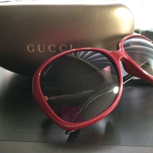 GUCCI太陽眼鏡 紅色 正紅