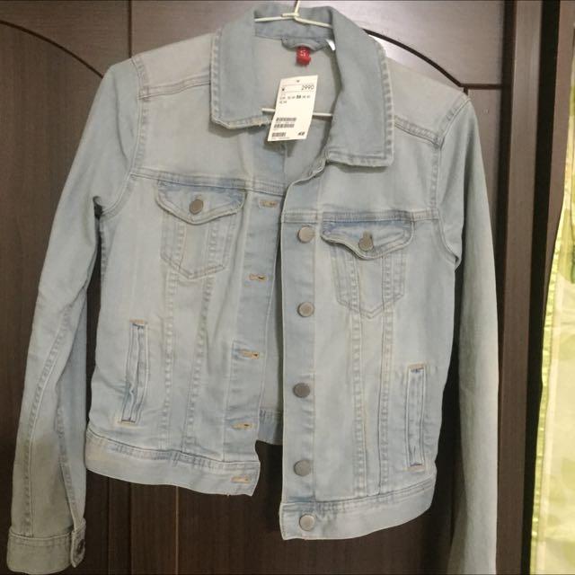 H&M牛仔外套(36)號全新未穿