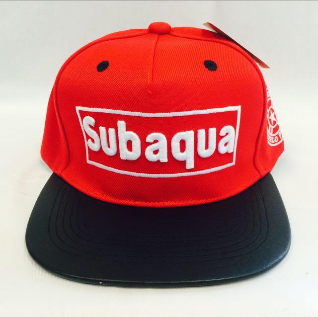 Subaqua 紅(代客訂製各式專屬帽子)潮流帽子 鴨舌帽 潮帽