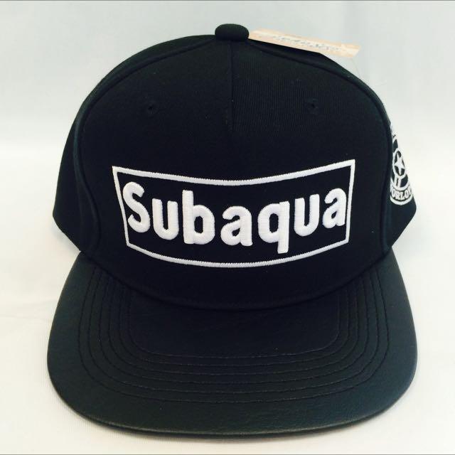 Subaqua  黑(代客訂製各式專屬帽子)潮流帽子 鴨舌帽 潮帽