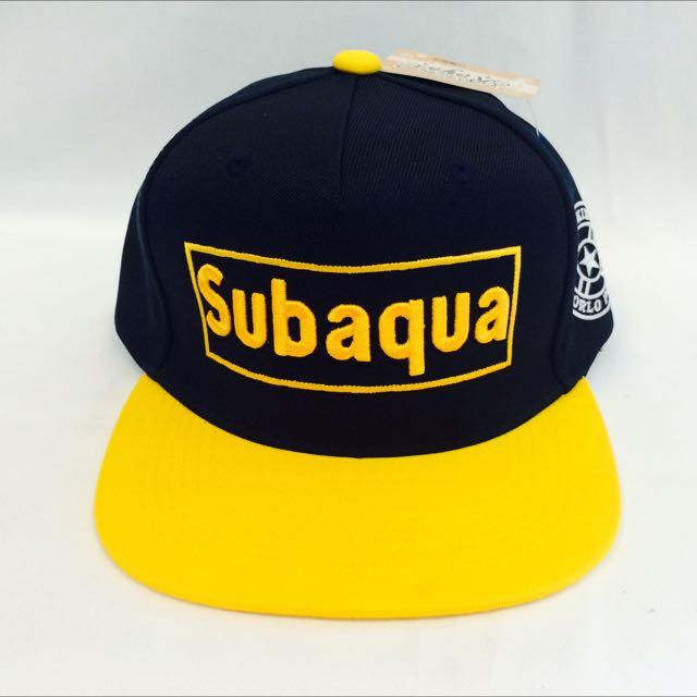 Subaqua 黃(代客訂製各式專屬帽子)潮流帽子 鴨舌帽 潮帽