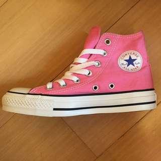 全新 converse all star粉色高桶帆布鞋 22CM UK3 EUR35