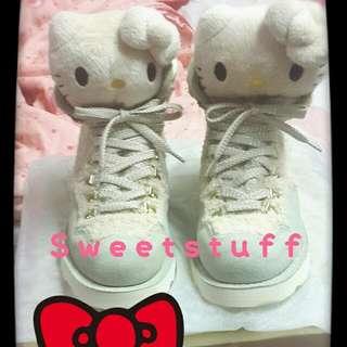●全新●♡獨一無二Hello Kitty限量收藏鞋-杏♡