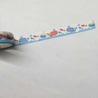 (降✨)小鯨魚紙膠帶🐳