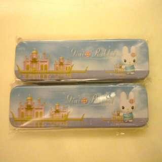 吉妮兔單層鐵筆盒