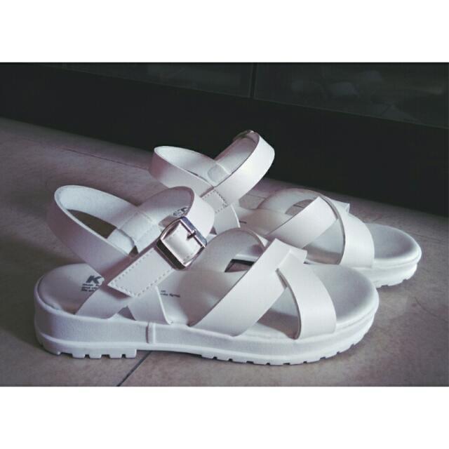 質感純白涼鞋24.5