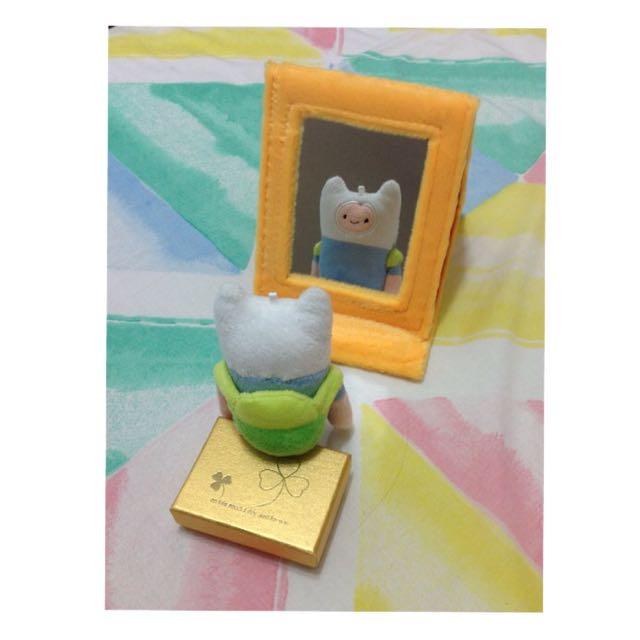 毛絨黃色小鴨折疊鏡