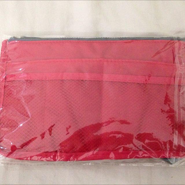 全新*紅色包包收納袋*