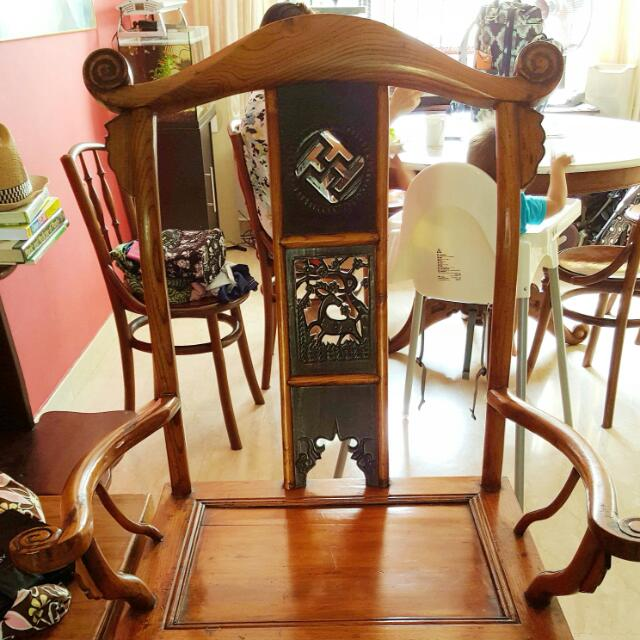 Antique Chinese Chairs Male And Female