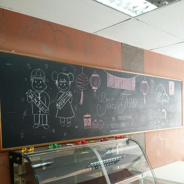 Black Chalk Board (Wide)