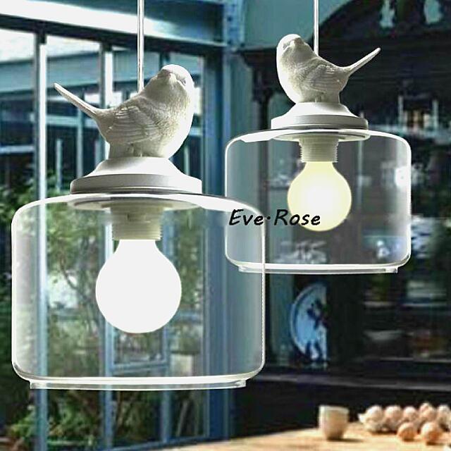 Eve.(特價+免運) 小鳥燈具 北歐 工業風 Ikea款 玻璃吊燈 預購 110/220v 皆可