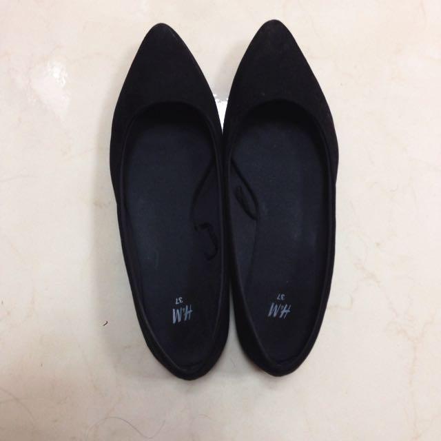 (保留中)H&M 尖頭芭蕾淺口鞋/平底鞋