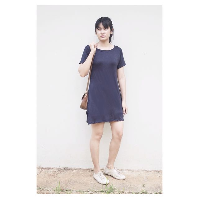 Long Tees - Navy BLUE