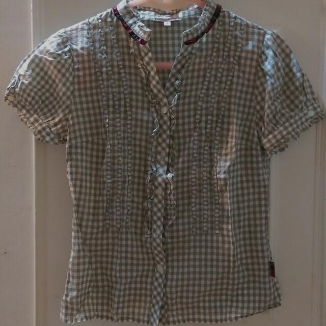 再降價~😁專櫃正品~Scottish Housr 格子襯衫