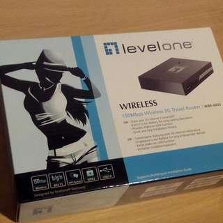 德國LevelOne Router WBR-6803 無線3G旅行路由器 已拆封 未始用