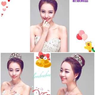 韓版新娘新秘髮飾組合🎎