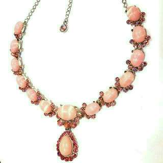 Pink Crystals Necklace