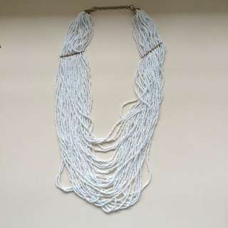White Layered Necklace