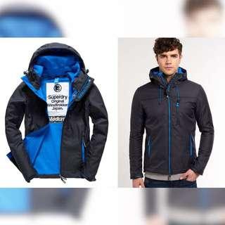 極度乾燥Superdry 男生夾克 深灰/登比藍