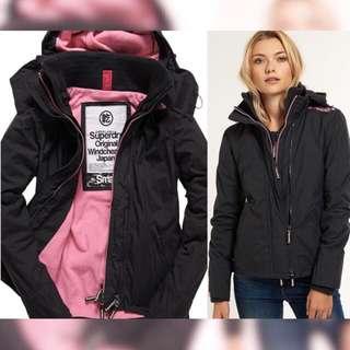 極度乾燥 Superdry 女生夾克 碳黑/櫻花粉