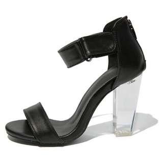 Stylenanda 透明後跟高跟涼鞋 Size22.5 超美型