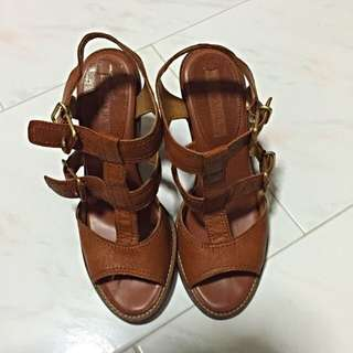 Banana Republic Brown Leather Strappy Heels (New- Size 8m/39)