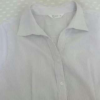 Net修身短袖襯衫