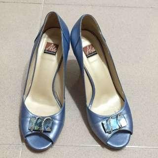阿瘦亮藍紫色寶石高跟鞋6.5號