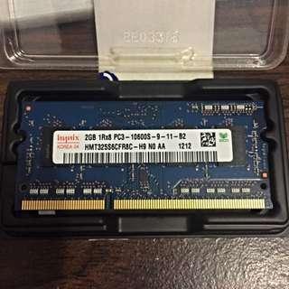 海力士 Hynix RAM DDR3 2GB 筆電記憶體