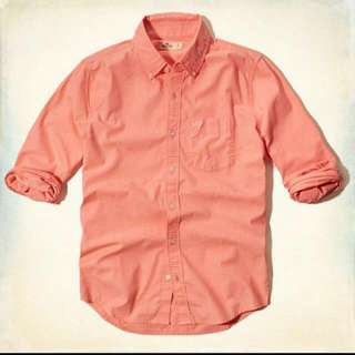 Looking For Man's Orange Color Long Sleeves Shirt