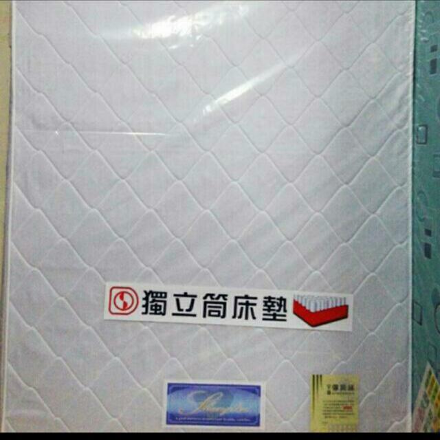 床工坊-雙人5尺雙線獨立筒床墊(全省配送)