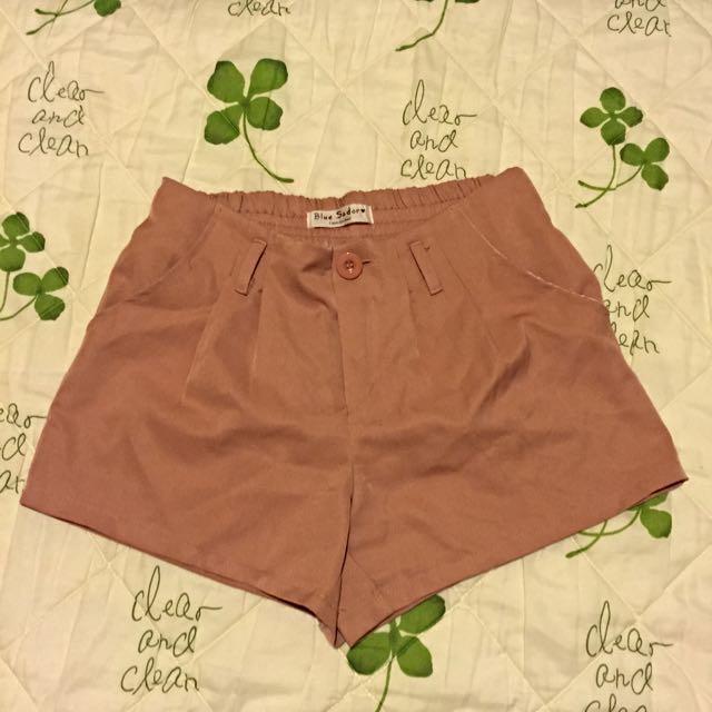 (二手)粉藕色打折西裝短褲