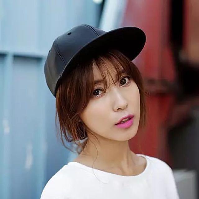 ❤️現貨韓國皮質棒球帽(含運)