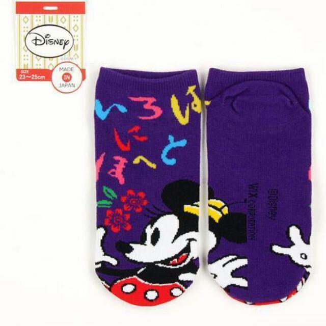 日本迪士尼 成人米奇襪子三件組