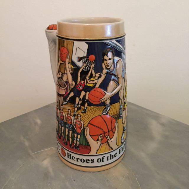 "Budweiser ""Heroes Of The Hardwood"" Basketball Sports Series Stein (1991)"