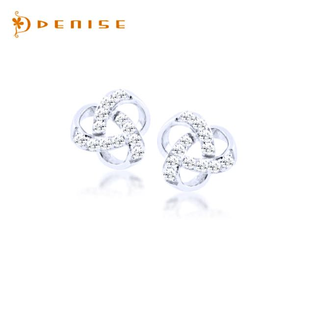 DENISE 925純銀「環繞耳環」鑽石珠寶銀飾禮品/情人禮物